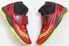 Saucony Lanzar Throwing Shoes Spikes Red Black Yellow 8 Eight Discus Shot Put