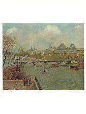 """1963 Vintage PISSARRO """"THE SEINE & PONT DES ARTS, PARIS"""" COLOR offset Lithograph"""