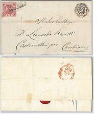 ANTICHI STATI -  NAPOLI : Sassone 7g su BUSTA da  NAPOLI 1860