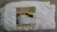 Park B Smith Cream Ultra Spa  English Garden King Fringed Chenille Bedspread NEW