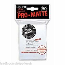 50 Ultra Pro White Standard Pro-Matte Deck Protectors Trading Card Sleeves.