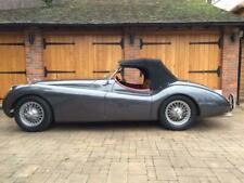 Jaguar XK120/140 - Black Mohair Hood With Plastic Rear Window