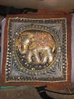 VINTAGE THAI Culture Fabric Hanging Wall Handcraft ELEPHANT
