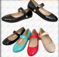 Lady Womens Flats Mary Janes Loafer Ankle Strap Ballet Cute Girls Shoes Plus SZ