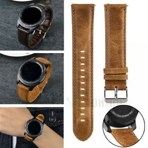 Leather Watch Band Strap For Samsung Galaxy Watch 4 40/44/42/46mm S2 S3 Classic