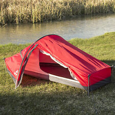 Ozark Trail One Man Tent Extra Long Backpacking Hiking Waterproof Camping, Red