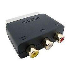 Audio Video In-Scart Plug  Adaptor with Scart Plug 3 Phono Sockets by Microsoft