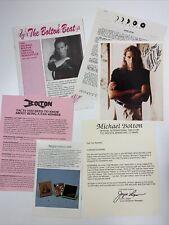 The Bolton Beat Michael Bolton Annual Fan Club Newsletter 1991-1992
