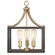Progress Lighting Boswell Quarter 3-Light Vintage Brass Pendant
