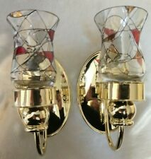 """""""New"""" Pair of PartyLite Calypso Mosaic Candle Wall Sconces (Discontinued Item)"""