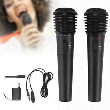 2XProfessional Wireless Handheld Microphone Mic System Home Party KaraokeSinging