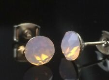 PINK OPAL Crystal Studs Earrings 6mm SWAROVSKI ELEMENTS Wedding Formal