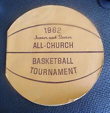 1962 Junior and Senior All Church Basketball Tournament Program Lds Mormon