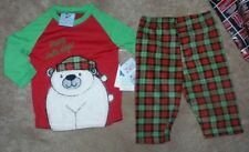 NEW Christmas Holiday Polar Bear 2 Piece Baby 12 mos months Shirt Pants NWT