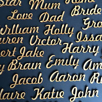 50mm/5cm Script names, letters or words Wooden 3.2mm MDF Wedding Gift Wood FH