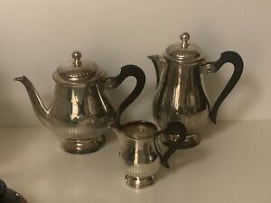 "Vintage ""Christofle"" Silver-plated 3 Piece Coffee / Tea Set Hallmarked"