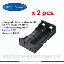 Supporto per batterie ricaricabili 3,7V standard 18650- Storage Box Case Holder