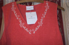 Liz Clairborne size M sleeveless jumper top 100% linen salmon pink NEVER WORN