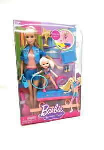 Barbie Gymnastics Coach Doll And Spinning Kelly Doll Playset Rare Sealed New