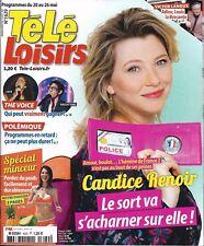 TELE LOISIRS N°1629 20/05/2017 CANDICE RENOIR_LANOUX_THE VOICE_MIKE HORN_BMACRON