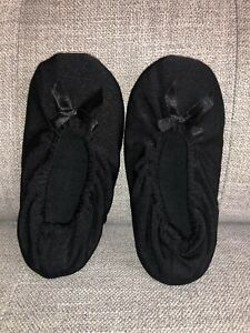 Black Ballet Slippers  Medium 10-13