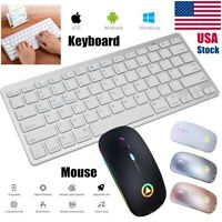 USA Wireless Bluetooth Keyboard + 2.4GHz RGB USB Wireless Mouse For PC Laptop