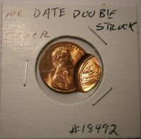 "No Date Double Struck Lincoln Cent  Very Nice Error Coin #18492 ""Free Shipping"""