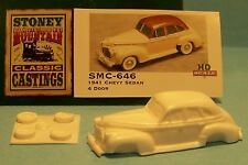 SMC-646 1941 Chevy Sedan 4-Door  HO-1/87th Scale White Resin Kit (unfinished)