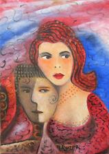 """MARIA MURGIA - """"Innamorati nel 2003"""" - Olio su tela cm 35x25  + ARCHIVIO"""