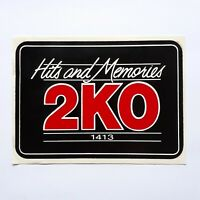 1980s 2KO Radio Station Sticker VINTAGE NOS Sticker 2KO 1413 Hits And Memories