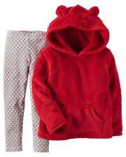 Vestiti e abbigliamento rossi in misto cotone con maniche lunghe per bambina da 0 a 24 mesi