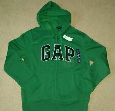 GAP MENS HOODIE WITH LOGO SIZE EXTRA SMALL GREEN BNWT