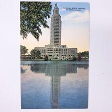 Louisiana  State Capitol At Baton Rouge Linen Postcard