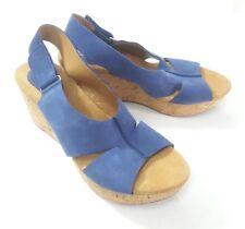 Clarks Artisan Wedge Sandal Size 9 Caslynn Lizzie Shae Blue