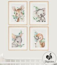 Baby Nursery Wall Art Decor Prints. Koala, Kangaroo, Bilby, Platypus, Australian