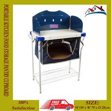 CIBO CUCINA campeggio portatile di archiviazione DISPENSA CREDENZA BBQ & STUFA A GAS Stand