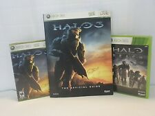 Microsoft Xbox 360 Lot of 2 Halo Games Halo Reach + Halo 3 + Official Guide Book