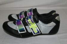 New VITTORIA Men's 40 Black w/ Straps in Multi-Color Cycling Bicycle Shoes