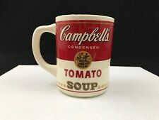 Vintage 1960's CAMPBELL'S Ceramic Soup Cup/Mug Red & White Made in U.S.A.