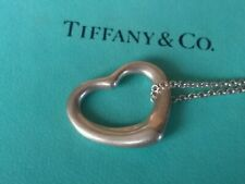 tiffany and co. Elsa peretti open heart pendant with chain 16cm