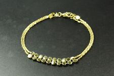 Señoras con estilo de inspiración vintage Oro Brillante Tono Slinky Moda Pulsera (Zx2)