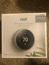 New Google Nest Learning Thermostat 3rd Gen in Stainless Steel T3007ES Sealed