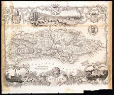 SUSSEX 1848 Thomas Moule ANTIQUE MAP