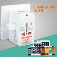 USB 2-Port Universal Travel AC Power Charger Adapter Plug Converter AU UK US EU