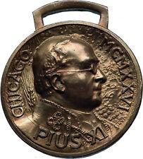 1926 Chicago International Eucharistic Congress POPE PIUS XI Medal i71814