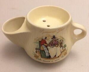 Vintage Shaving Scuttle Mug Souvenir Wales Welsh Ladies Symonds Yat Monmouth VGC