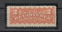 I3553/ CANADA – REGISTERED - SCOTT # F1 MINT MH – CV 115 $