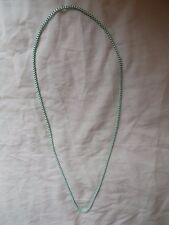 Old Costume Jewellery Jewelry Necklace Long Green Chain