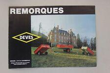 prospectus brochure remorque DEVES tondeuse motoculteur micro tracteur