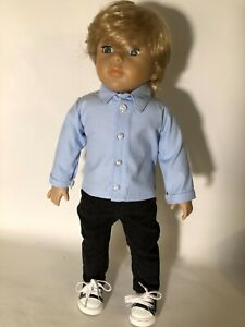 18 in OOAK reborn Kingstate boy doll blond hair blue eyes new wig & clothes